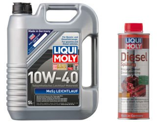 Olej Liqui Moly 10W40 MoS2 5L + Diesel Spulung!